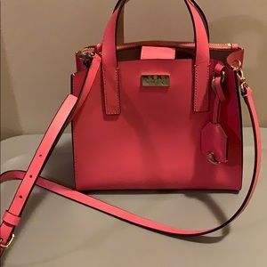 coral pink Kate spade purse